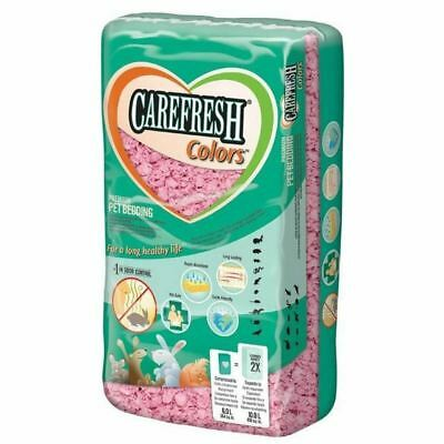 Carefresh Pink 10 Litre Bedding - Small Animal/Rabbit Reptile Paper Bedding 10 Liter Small Animal Bedding