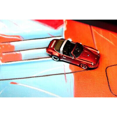 Timothy & Pierre Porsche 911 (964) Singer Targa 1:64 Red Limited Resin Car Model