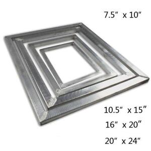 Variety Screen Printing Aluminum Frame Blank with no mesh
