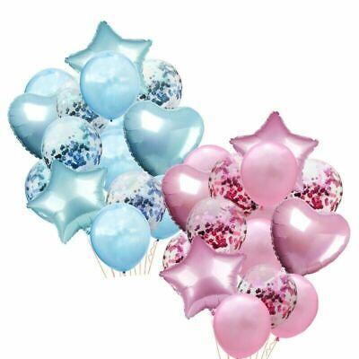 14pcs/set Wedding Birthday Balloons Latex Foil Ballons Kids Boy Girl Baby Party](14 Balloons)