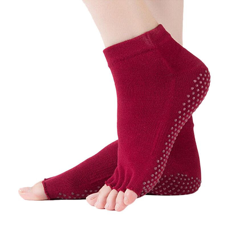5 Pairs Non-Slip Grip Toeless Massage Yoga Socks Pilates Barre Dance Ballet US Clothing, Shoes & Accessories