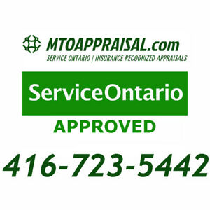 #1 MTO APPROVED CAR APPRAISAL SERVICE - $40  - (416) 723-5442