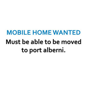 MOBILE HOME - needs to be able to be moved