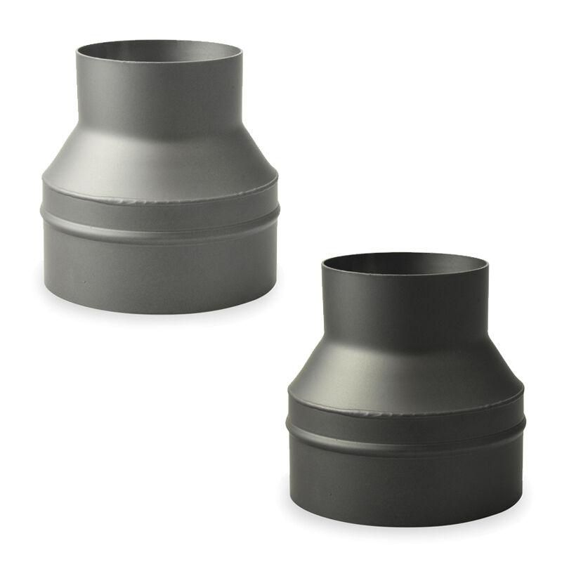rauchrohr reduzierung erweiterung ofenrohr kaminrohr schwarz gussgrau 2 mm ebay. Black Bedroom Furniture Sets. Home Design Ideas