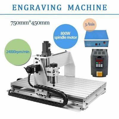 3 Axis 6040 Cnc Router Engraver Milling Machine Engraving Drilling Desktop Top