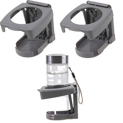 2Pcs Car SUV Auto Truck Folding Beverage Drink Bottle Can Cup Holder Stand Mount