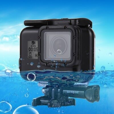 For GoPro HERO 6/5 PULUZ Waterproof Housing Protective Case+Buckle Basic Mount