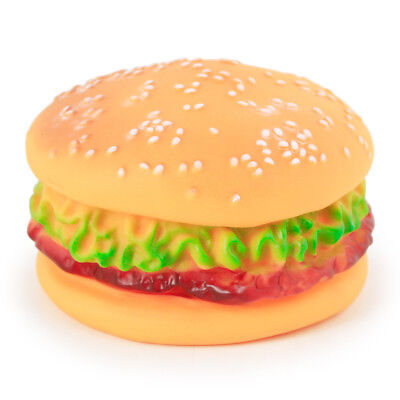 1Pcs Puppy Chew Toys Hamburger Squeaky Sound Funny Bite Toy For Small Dog Pet