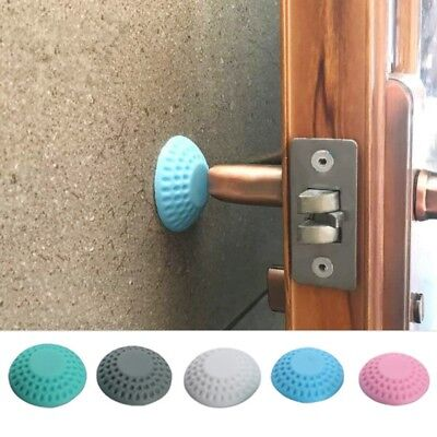 Door Handle Crash Pad Self Adhesive Mute Rubber Door Stopper Wall Protector (Modern Door Stops)