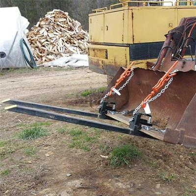 Clamp On Pallet Fork 3000lbs Capacity Loader Bucket Skidsteer Tractor Heavy Duty