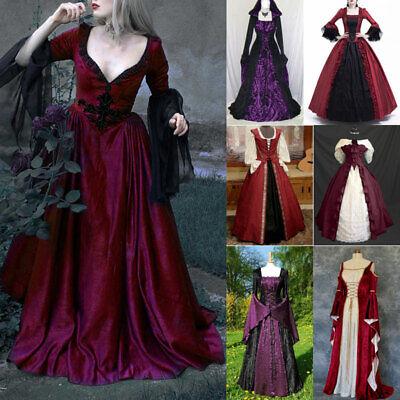 1970s Ball Damen Gothic Viktorianisch Langes Kleid Halloween Kostüm - Halloween 1970's Kostüm