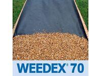 WEED CONTROL WEEDEX 70gsm | Professional Grade Weed Suppressant Membrane | 2m x 100m ROLLS
