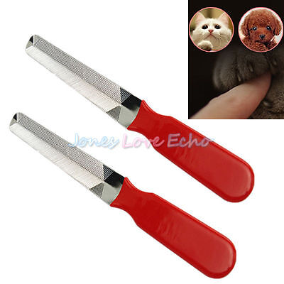 2 Professional Pet Dog Cat Stainless Steel Nail File Nail Claw Cleaning Clippers
