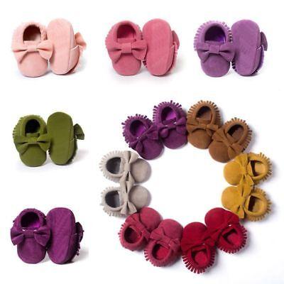 Newborn Baby Girl Soft Sole Crib Shoes Tassel Sneaker Infant