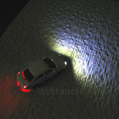 8 pcs HO Scale Model Lighted Cars with 12V LEDs lights