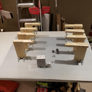 Magnetic build table system for RC planes