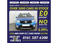 Dacia Sandero Stepway Dci 1.5 Manual Diesel GOOD / BAD CREDIT CAR FINANCE