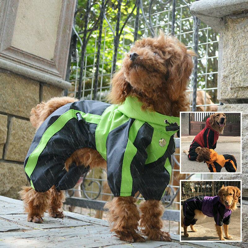 Hundekleidung Regenmantel 4 Fuß Vierbeiner Regenmantel für kleine mittelgroße
