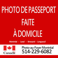 Photographe mobile pour photos de passeports