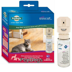 Petsafe-SSSCAT-Spray-Deterrent-Cat-Dog-Repellent-MOTION-ACTIVATED-Training-Kit