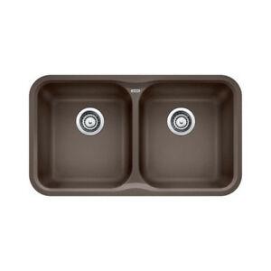 Blanco 400376 Vision U 2 Double Undermount Kitchen Sink