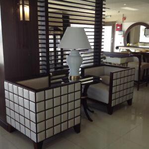 Hardwood Custom Made Conversation Chairs. 60%+ OFF!!