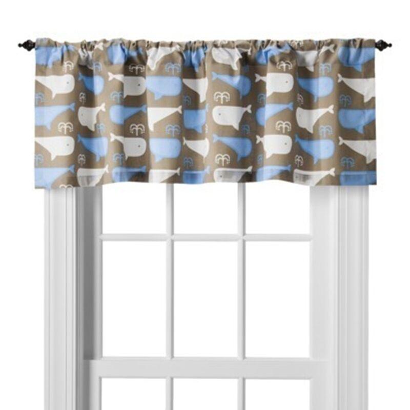 Room 365 Whales Window Valance 54x15 nwop