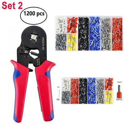 Ferrule Crimping Tool Kit Crimper Plier W1200 Pcs Wire Ferrules Hand Tools Us