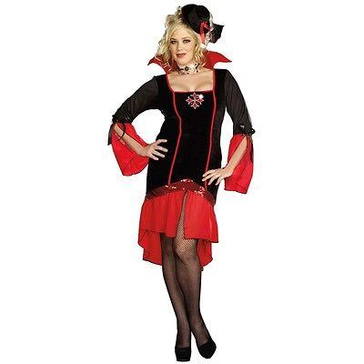 Lady VAMPS LIKE US Vampire Costume Goth Dress + Hat Adult XL Plus 1X 2X 16 18  - Vampire Costume Plus Size