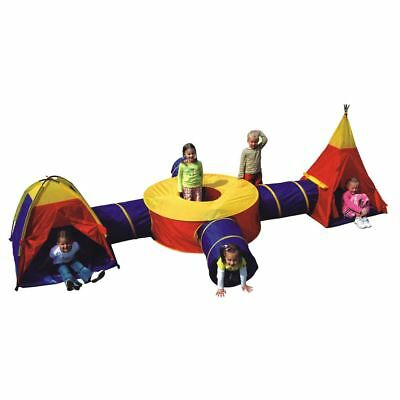 Boys Girls Large Play Tent Adventure Tunnel Set Childrens Kids Pop Up Indoor