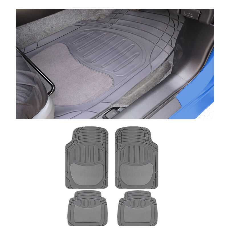 4 Pc Xlg Sedan Gray Grey Front W Rear Utility Heavy Duty Rubber Floor Mats Set Auto Parts And Vehicles Car Truck Floor Mats Carpets Magenta Cl