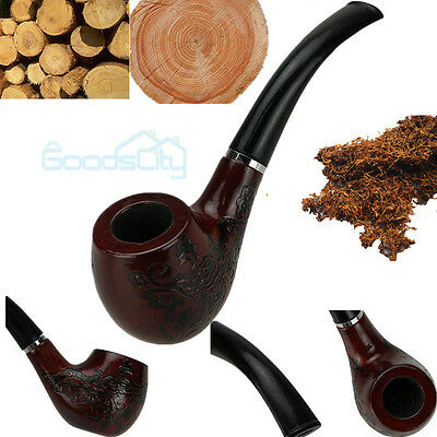 New Wooden Enchase Smoking Pipe Tobacco Cigarettes Cigar Pipes Durable
