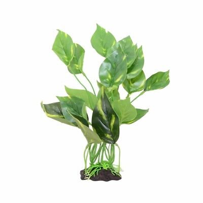 Aquarium Fish Tank Green Lifelike Underwater Plastic Plant Aquatic Water 10-inch
