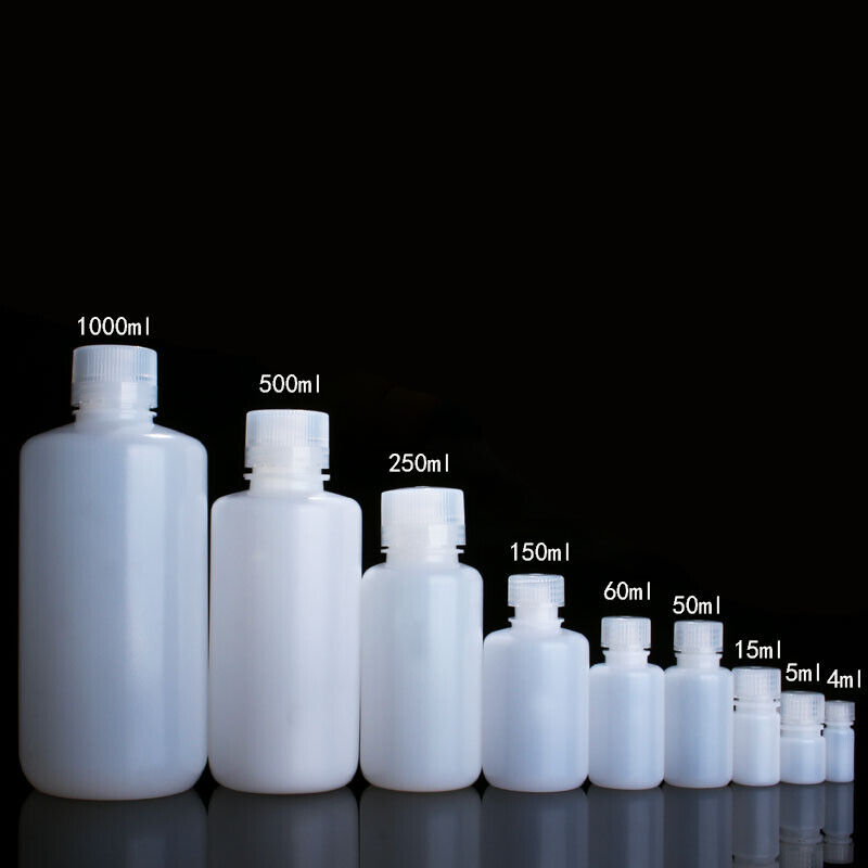 HDPE Plastic Chemical Containers Reagent Bottles 4mL 5mL 15mL 50mL 60mL - 1000mL