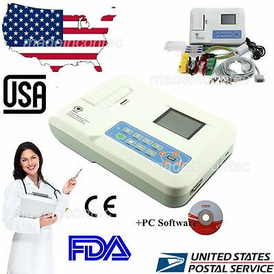 Contec Ecgekg Machine 3 Channel 12 Leads Software Colour Lcdpc Software Us Fda