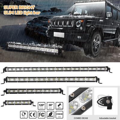 "8"" 14"" 20"" 26 "" inch Single Row LED Work Light Bar DRIVING LAMP 4WD UTE ATV SUV"
