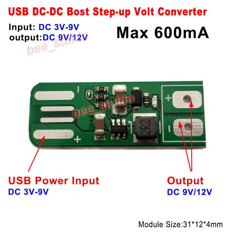 10Pcs 8W Usb Input Dc-Dc 5V To 12V Converter Step Up Power Supply Boost Modul ch