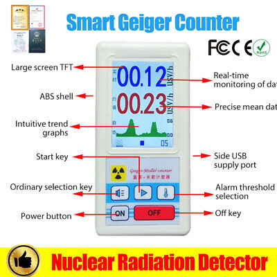 Pro Geiger Counter Beta Gamma X-ray Nuclear Radiation Dosimeter Detector Meter