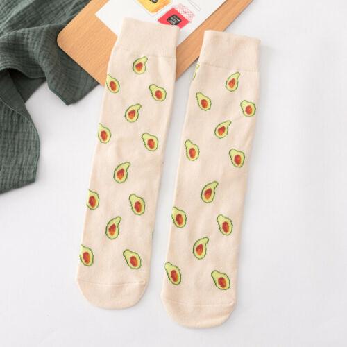 Women Socks Funny Cute Cartoon Fruits Cookie Donuts Food  Skateboard Socks