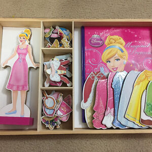 Cinderella Magnetic Wooden Dress Up