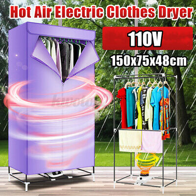 US 110V Electric Clothes Dryer Heater Kit Cloth Drying Machine Wardrobe Rack