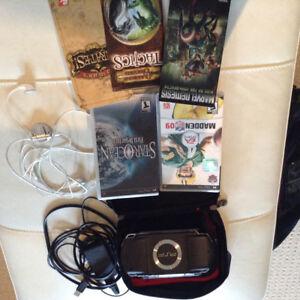 PSP Hand held gamer &; Four Games