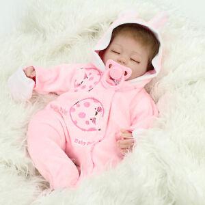 Realistic Reborn Baby Dolls Lifelike Sleeping Soft Vinyl Fake Babies Newborn