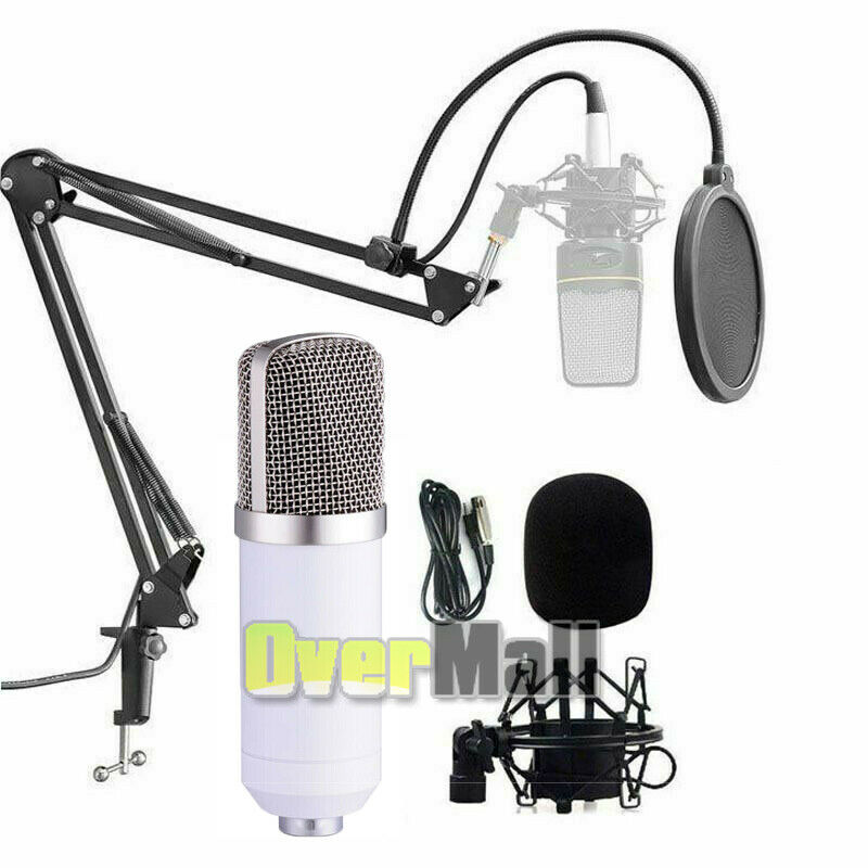 2021 Pro Podcast Set Streaming Microphone Mic For Home Studio Speaking Condenser