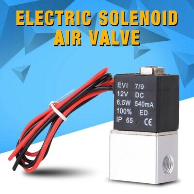 12v 14 2 Way Normally Closed Pneumatic Electric Solenoid Air Valve Aluminum