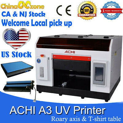 Achi A3 Uv Printer 6color 1390 Printed Head Rotary Holder Cylindrical Embossed