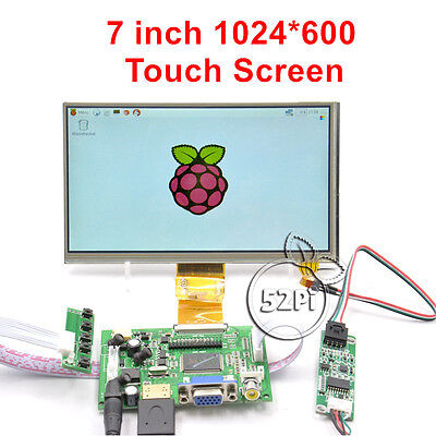 7 Inch 1024600 Lcd Touch Screen Display For Raspberry Pi 4 B All Platform Pc