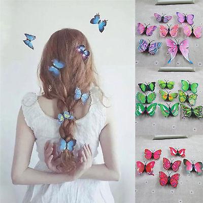 10x Schmetterling Haarspangen Braut Haarschmuck Hochzeit Fotografie - Kostüm Schmuck Braut