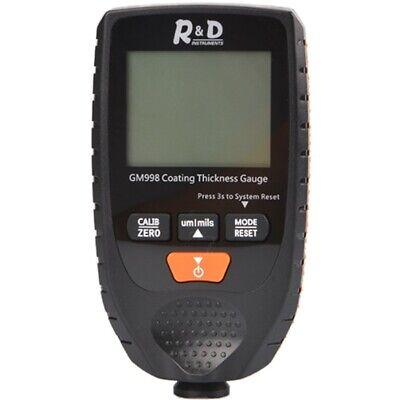 Lcd Display Digital Car Paint Coating Thickness Tester Measure Gauge Meter Tool