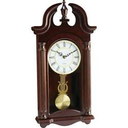 Kassel Quartz Pendulum Grandfather Wall Clock Wood Frame Plays Melody HHWC46